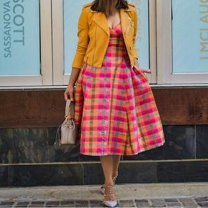 Isaac Mizrahi Dresses - BNWT Isaac Mizrahi x Target Plaid Silk Dress 💕
